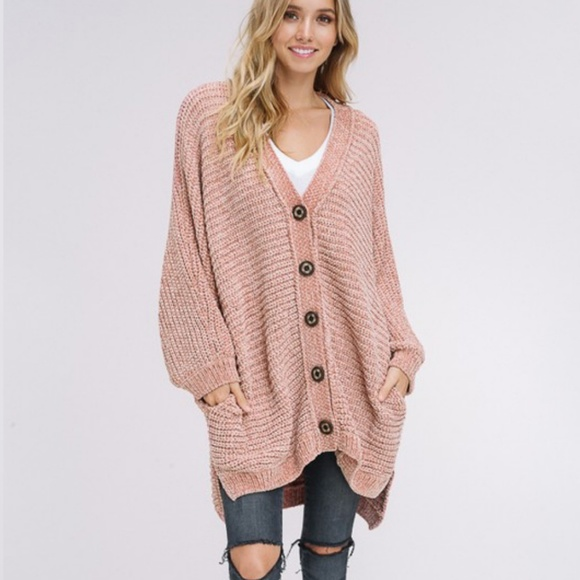 Sweaters Oversized Chenille Blush Cardi Poshmark